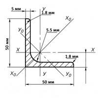 уголок стальной равнополочный 63х63х5